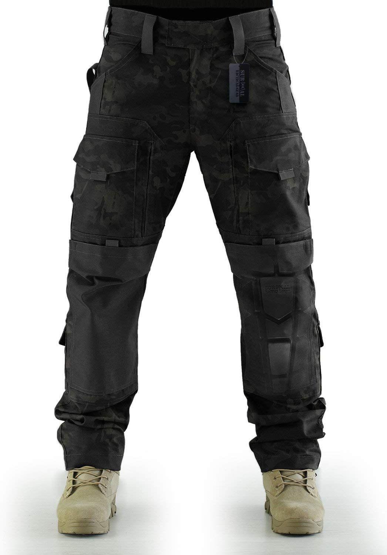 Unisex Tactical Combat Cargo Vest Nero