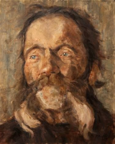 Head of an old Man Painting (With images) | Fine art painting oil ...