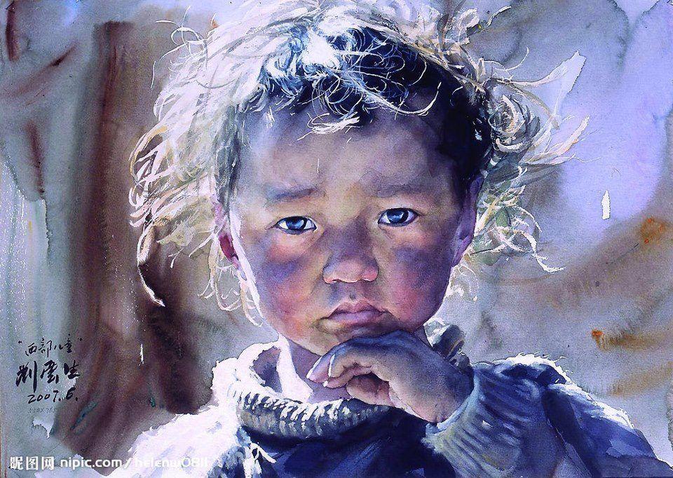 Stunning Watercolor Painting by Chinese artist Liu Yunsheng