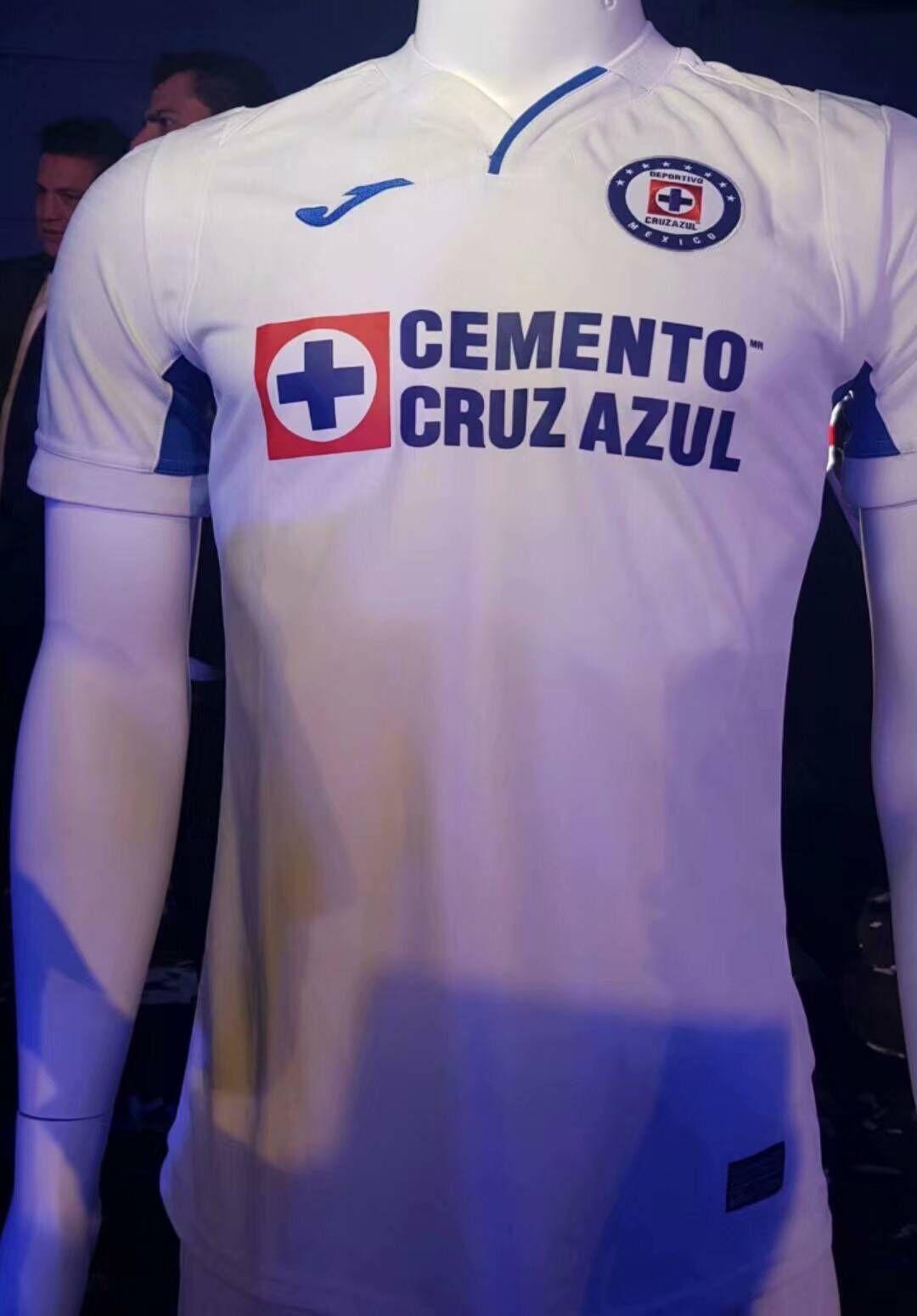e5c954be897 19 20 Thai Quality With Logo Cruz azul Away White Soccer Jersey Football  Shirt
