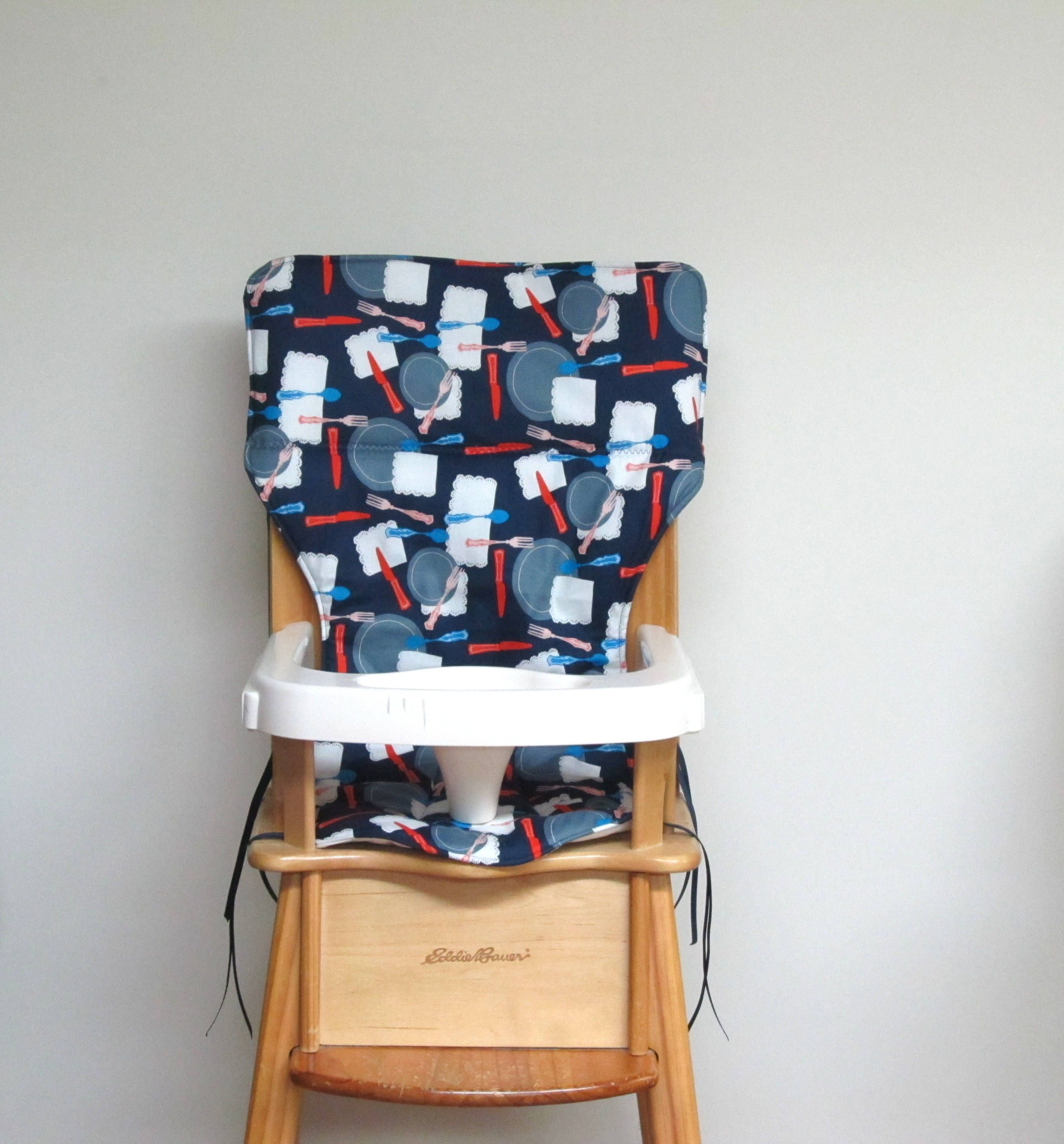 Eddie Bauer Replacement Cotton Fabric Highchair Cover Wooden