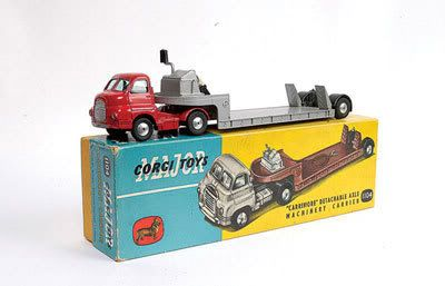 Mettoy Corgi diecast No.1104 Bedford S type Carrimore machinery carrier 1958-63