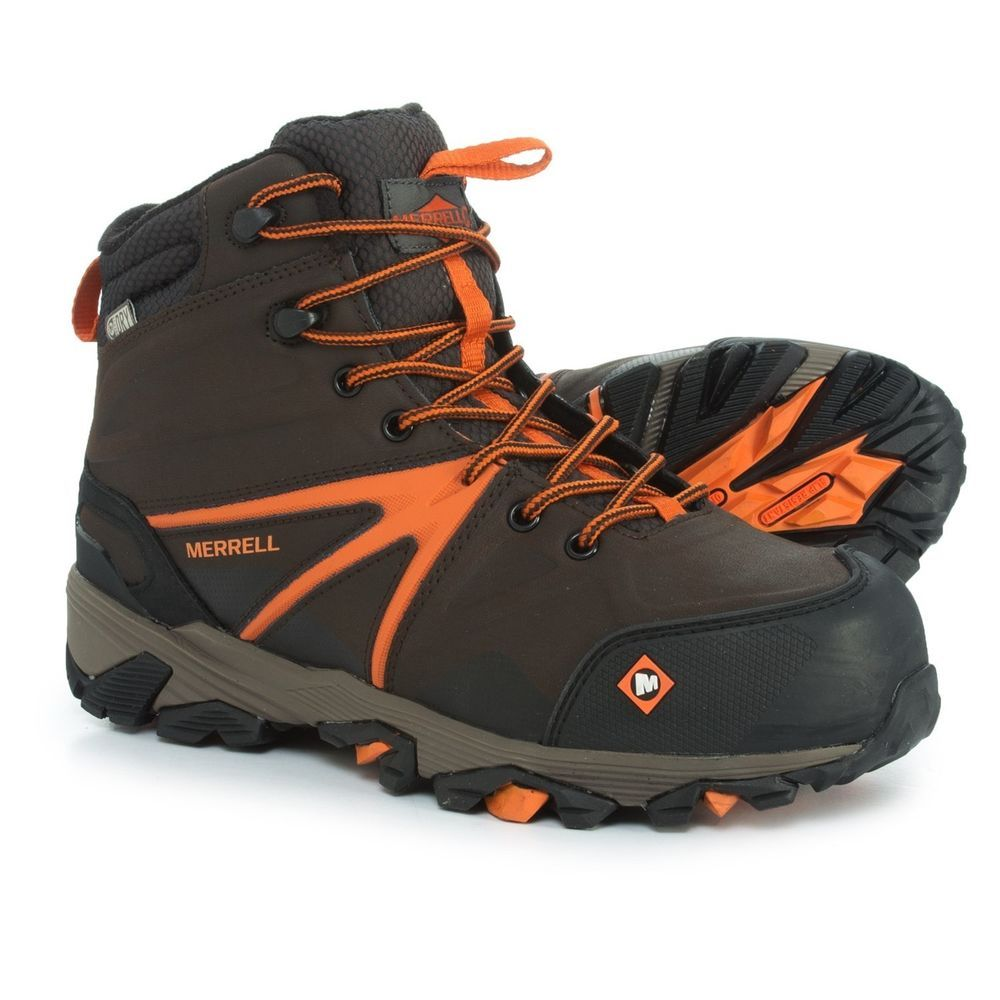 1bb2d8da Merrell Trailwork Mid Work Boots - Waterproof Composite Safety Toe ...