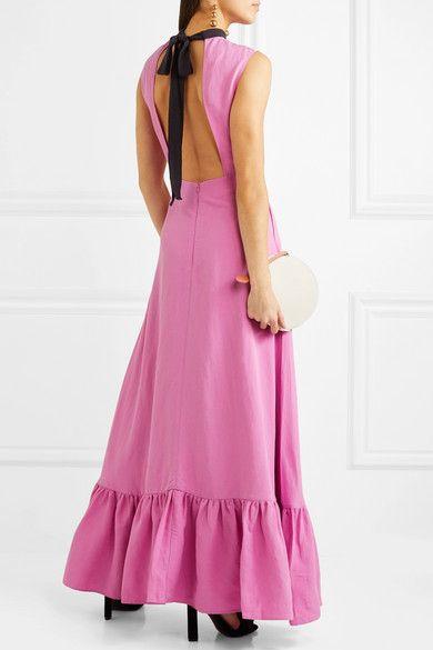 Ella Backless Woven Maxi Dress - Pink Rejina Pyo z13p4c3Y