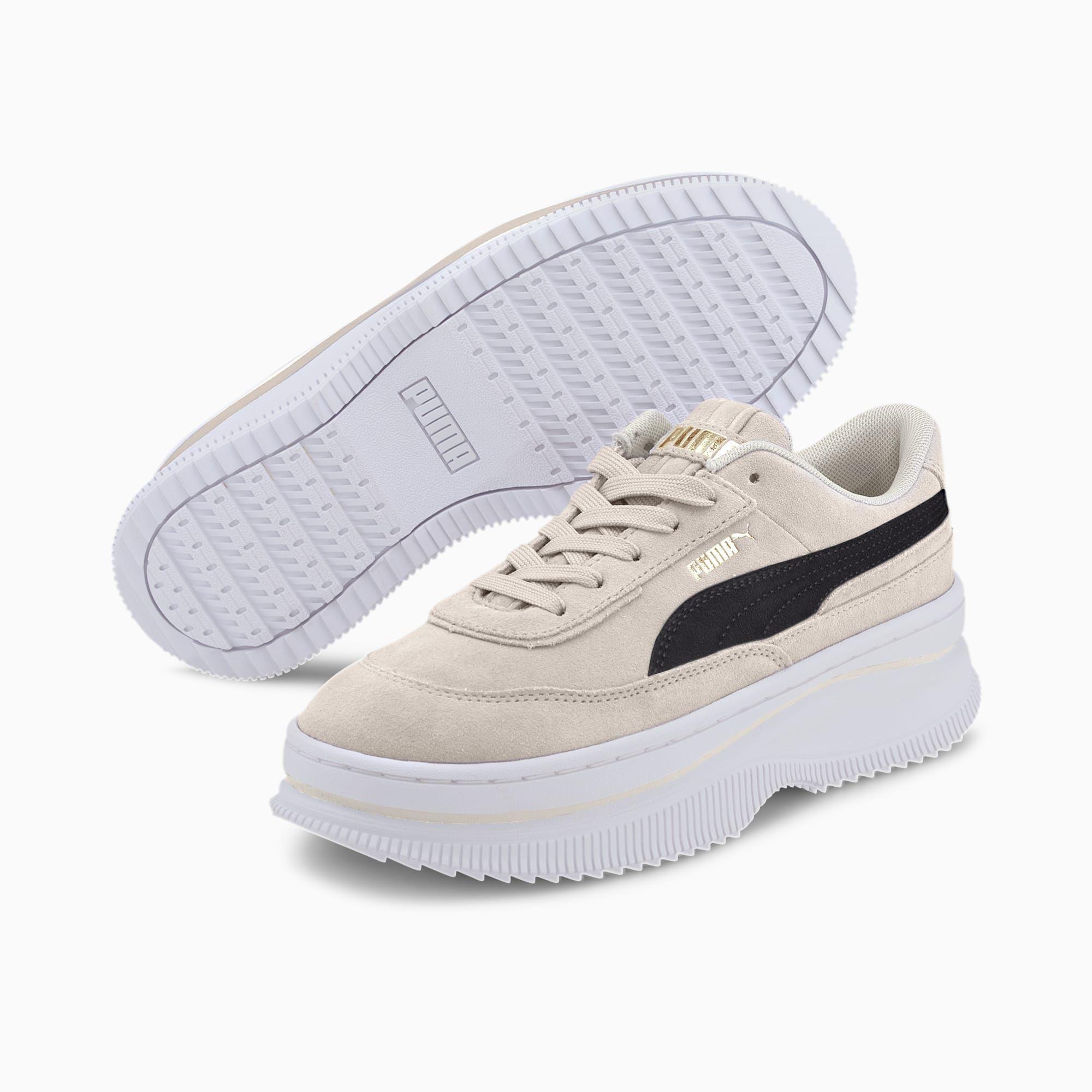 Puma Deva Wildleder Damen Turnschuhe Marshmallow Schwarz Grosse 4 Schuhe In 2020