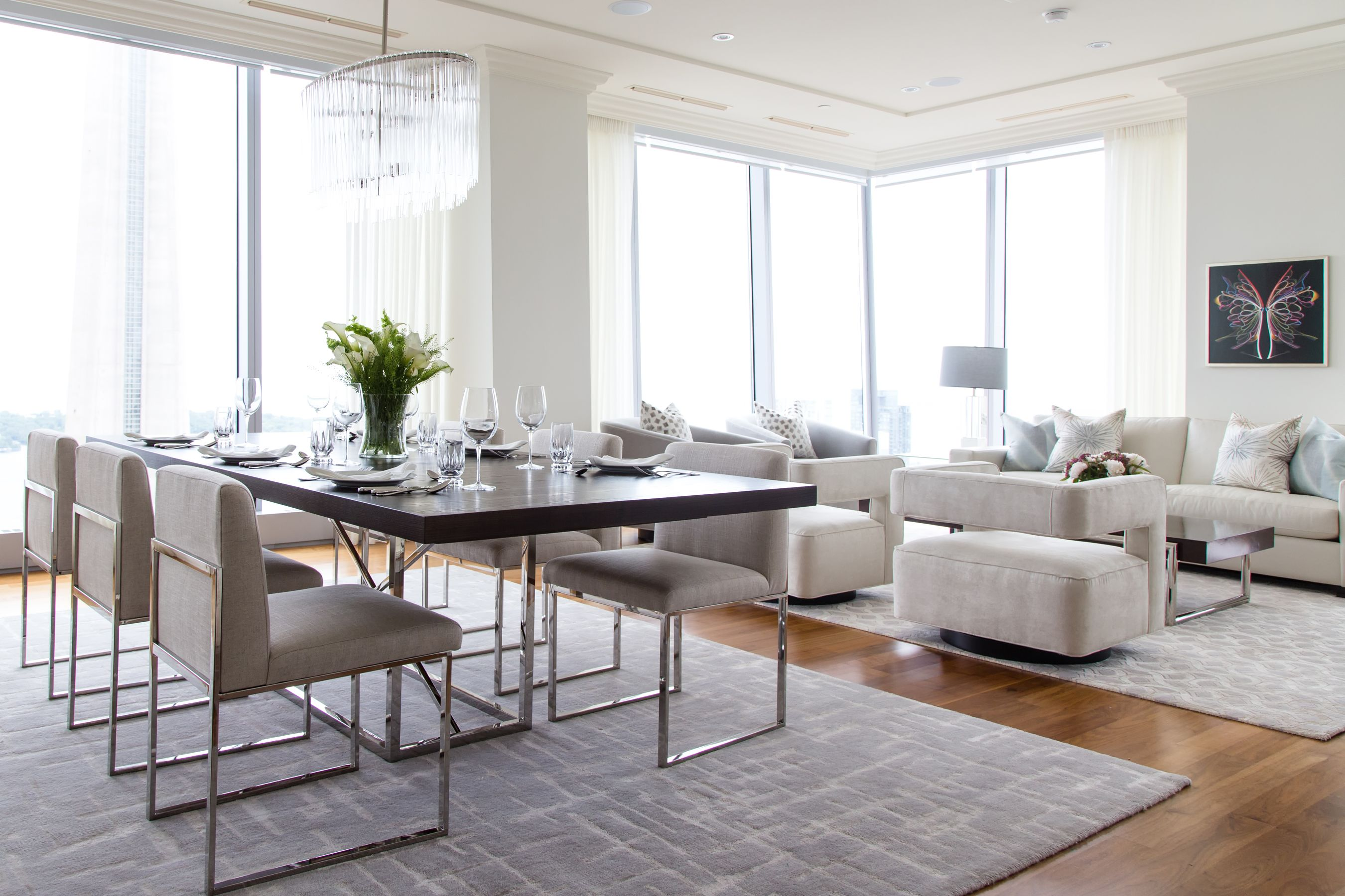 contemporary dining room living room combo up in the clouds. | megan ...