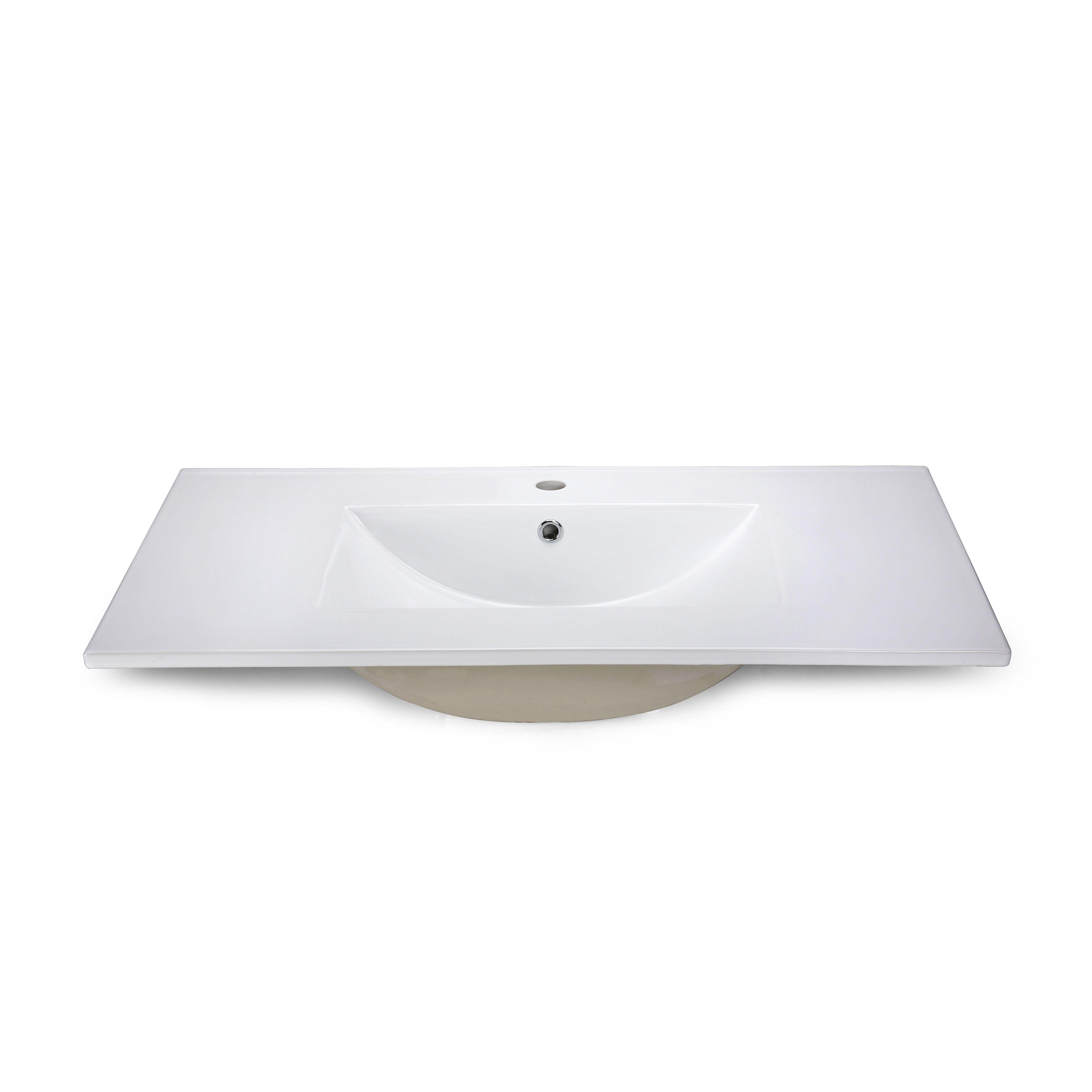 37 X 22 Porcelain Bathroom Vanity Top With Backsplash Google Search Bathroom Vanity Tops Single Bathroom Vanity Vanity Top