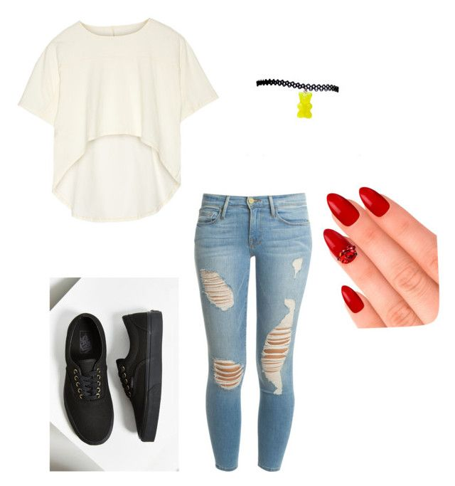 """with Matt espinosa my boyfriend"" by slayyeettia ❤ liked on Polyvore featuring Oak, Frame Denim, Vans and eylure"