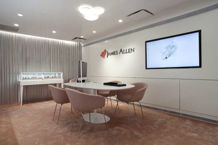 Showroom design for the james allen jewelry brand find this pin and more on sergio mannino studio