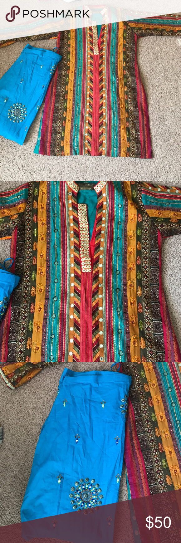 Beautiful Indian outfit Like new beautiful dressline Other