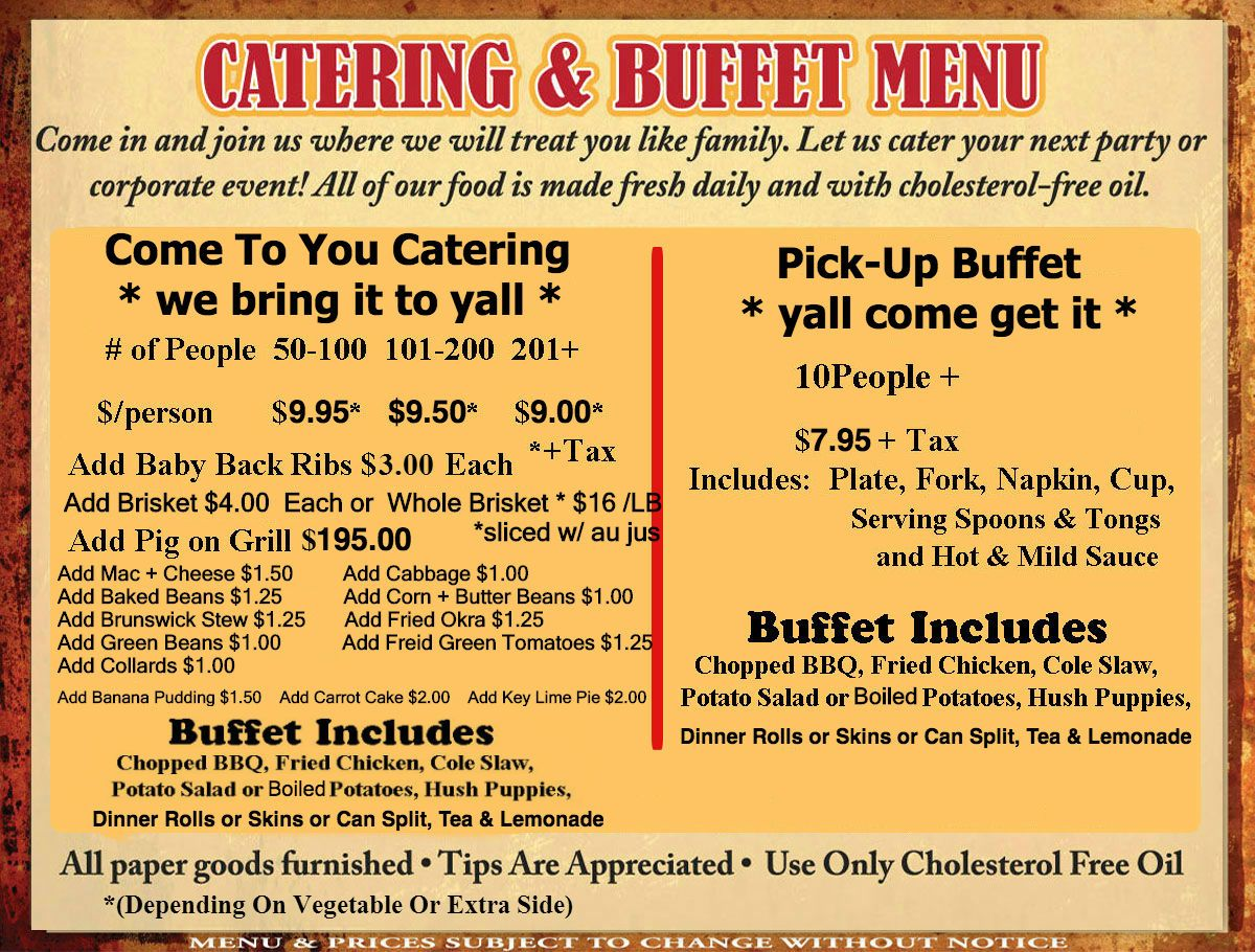 Cateringmenunewst3 newest Bbq catering, Catering