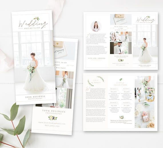 Photography Trifold Brochure Template For Photoshop Client Welcome