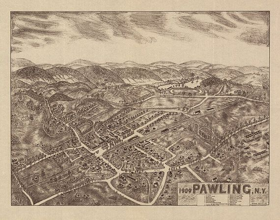 Map of Pawling, Dutchess County, New York, N Y  1909