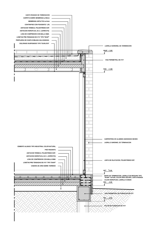 5510bdeee58eceb2700002fe Casa Vib Estudio Babo Detalle Vib 01 Png 2000 3000 Construction Details Architecture Brick Detail Architecture Details