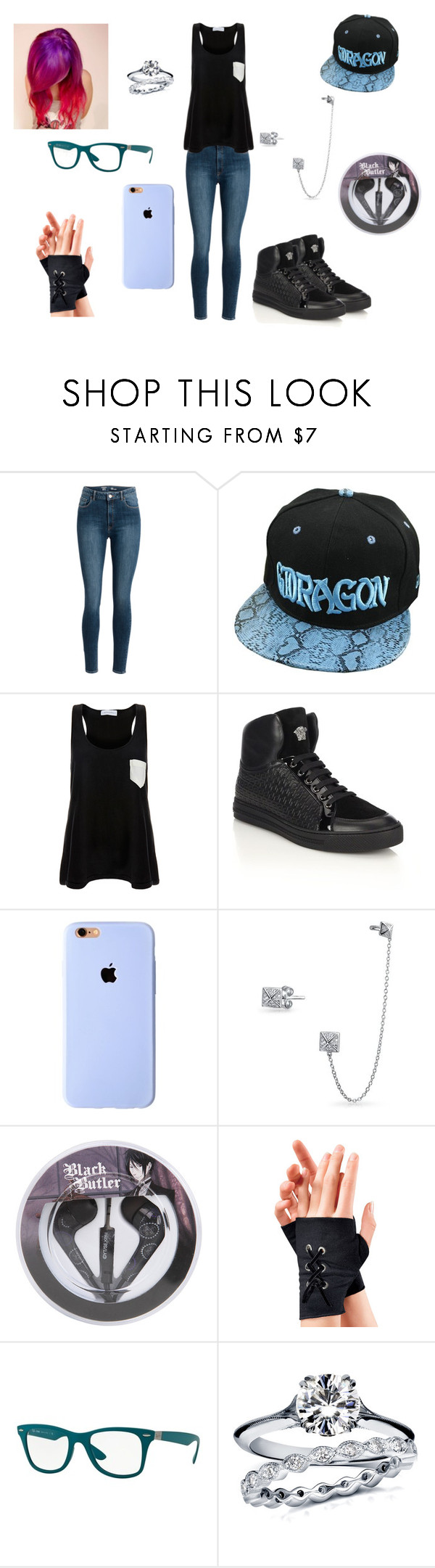 """""""Extra"""" by pokergirl77 ❤ liked on Polyvore featuring Solid & Striped, Versace, Bling Jewelry, Ray-Ban and Annello"""