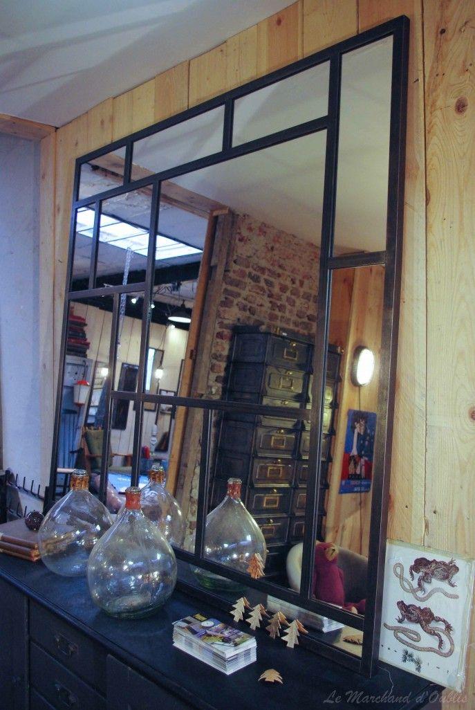 meubles exceptionnelle miroir style industriel conception. Black Bedroom Furniture Sets. Home Design Ideas