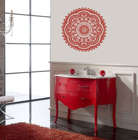 Vinyl Decal Indian Pattern Ornament Yoga Meditation Salon Home Wall