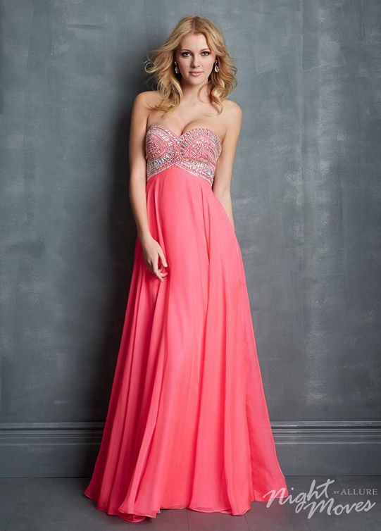 Vestido largo salmon | Vestidos de fiesta | Pinterest | Prom, Prom ...