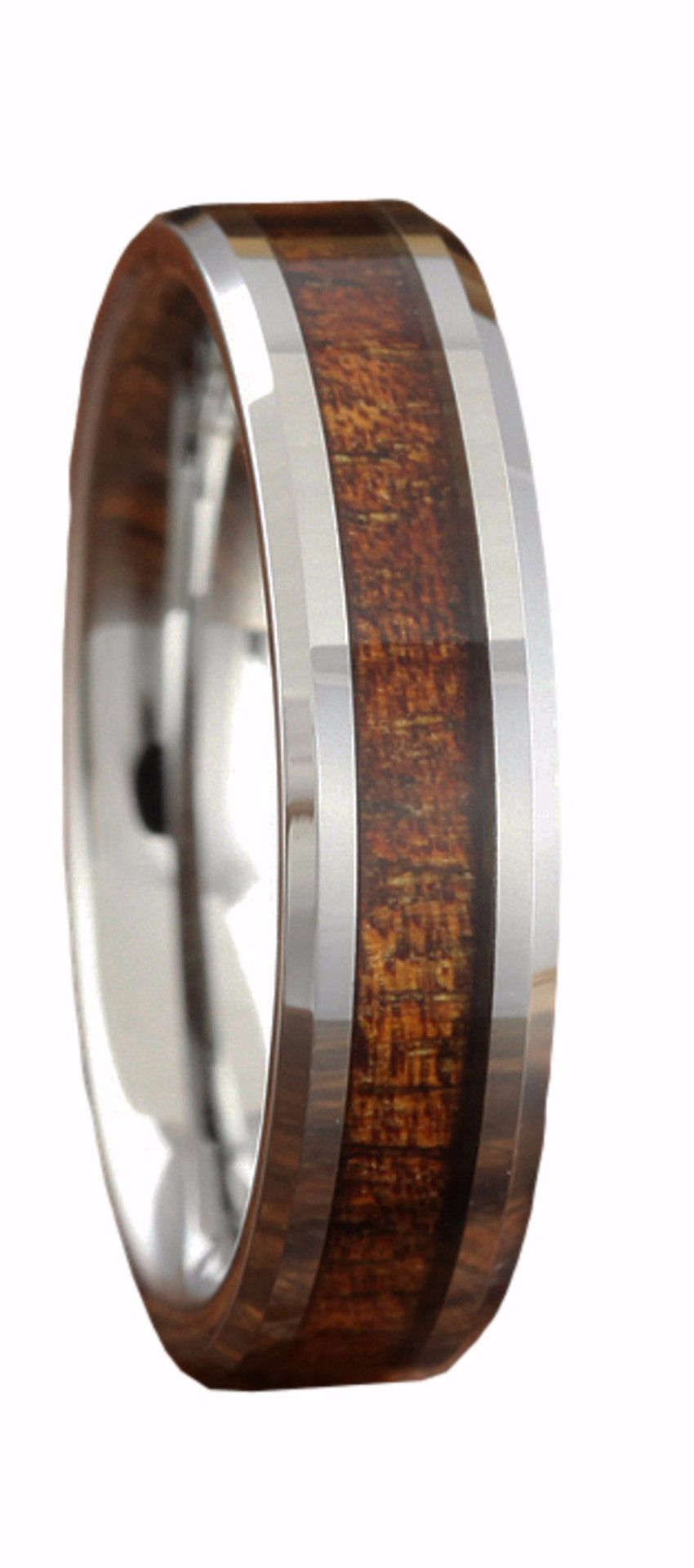 5mm handcrafted tungsten koa wood ring wood wedding ringswood - Koa Wood Wedding Rings