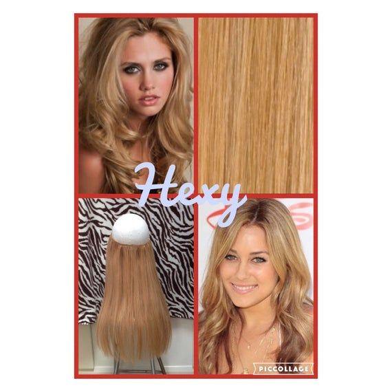 12 Long Halo Hexy Flip In Medium Honey Blonde 16 Human Remy