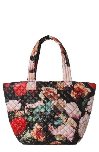 MZ Wallace 'Medium Metro' Floral Quilted Nylon Tote (Nordstrom ... : quilted floral tote bags - Adamdwight.com