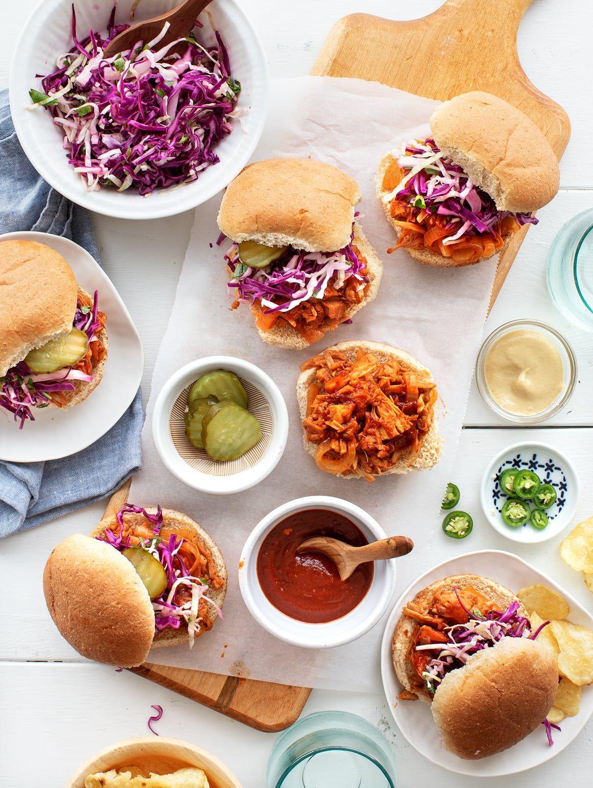 Bbq Jackfruit Sandwiches Vegan