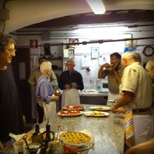 Enrico enjoys sharing his knowledge with students in cooking classes offered at Le Casacce.