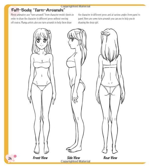 Female Manga Body Turnaround Buscar Con Google Tutoriais De Desenho Anime Modelagem De Personagens Tutorial De Manga