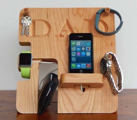 ba8bdfc684d2f Handmade Personalized Charging Station for Apple Watch and Smartphone