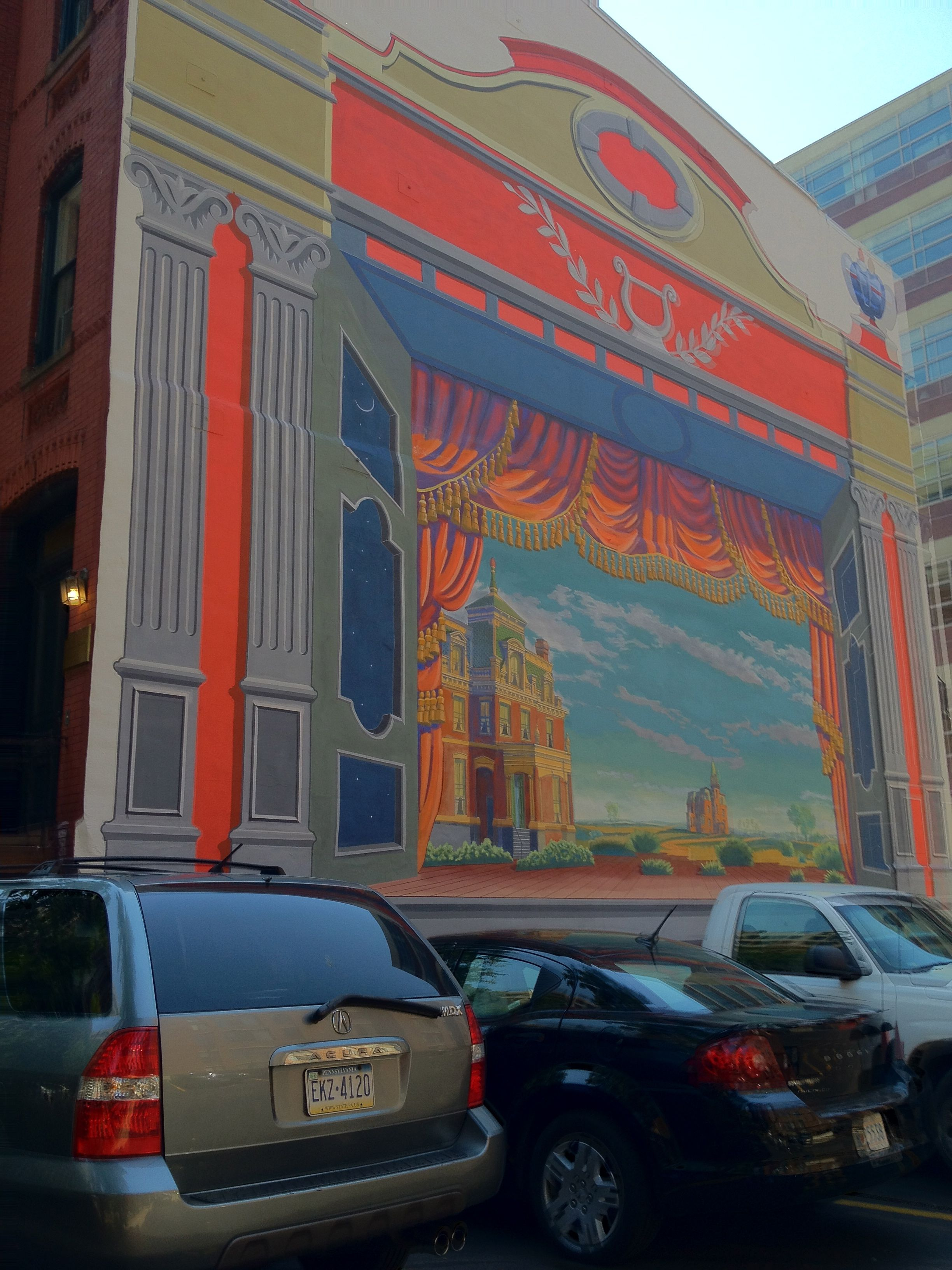 Toy Theater mural by Peter Waddell, located at 1914