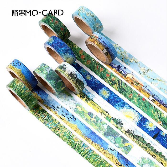 15 MM * 7 CM De Collectie van Van Gogh Schilderij Washi Tape Scotch DIY Scrapbooking Sticker Label Masking Craft Tape