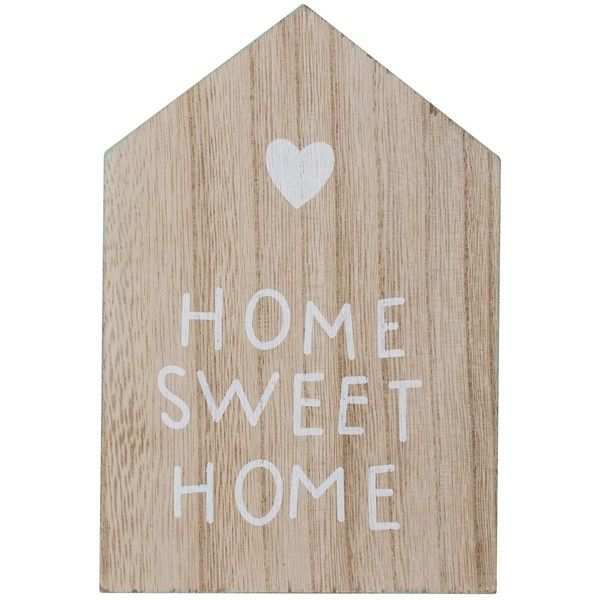 Word Signs Home Decor Prepossessing M&co Home Sweet Home Wooden House Sign $541 ❤ Liked On Inspiration