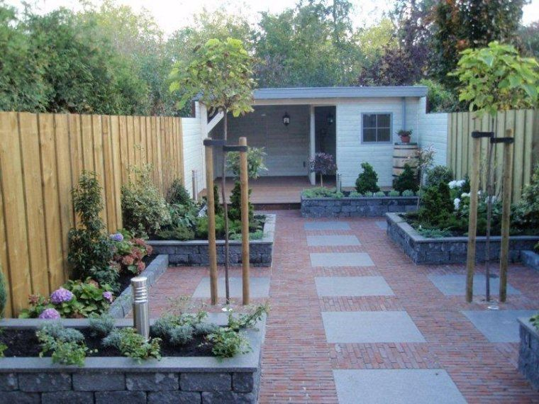 Smalle achtertuin ontwerp google zoeken tuin for Ontwerp tuin