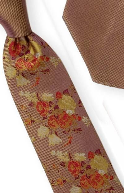 Tie and Hanky Set | 100% silk | Big-Knot | W761