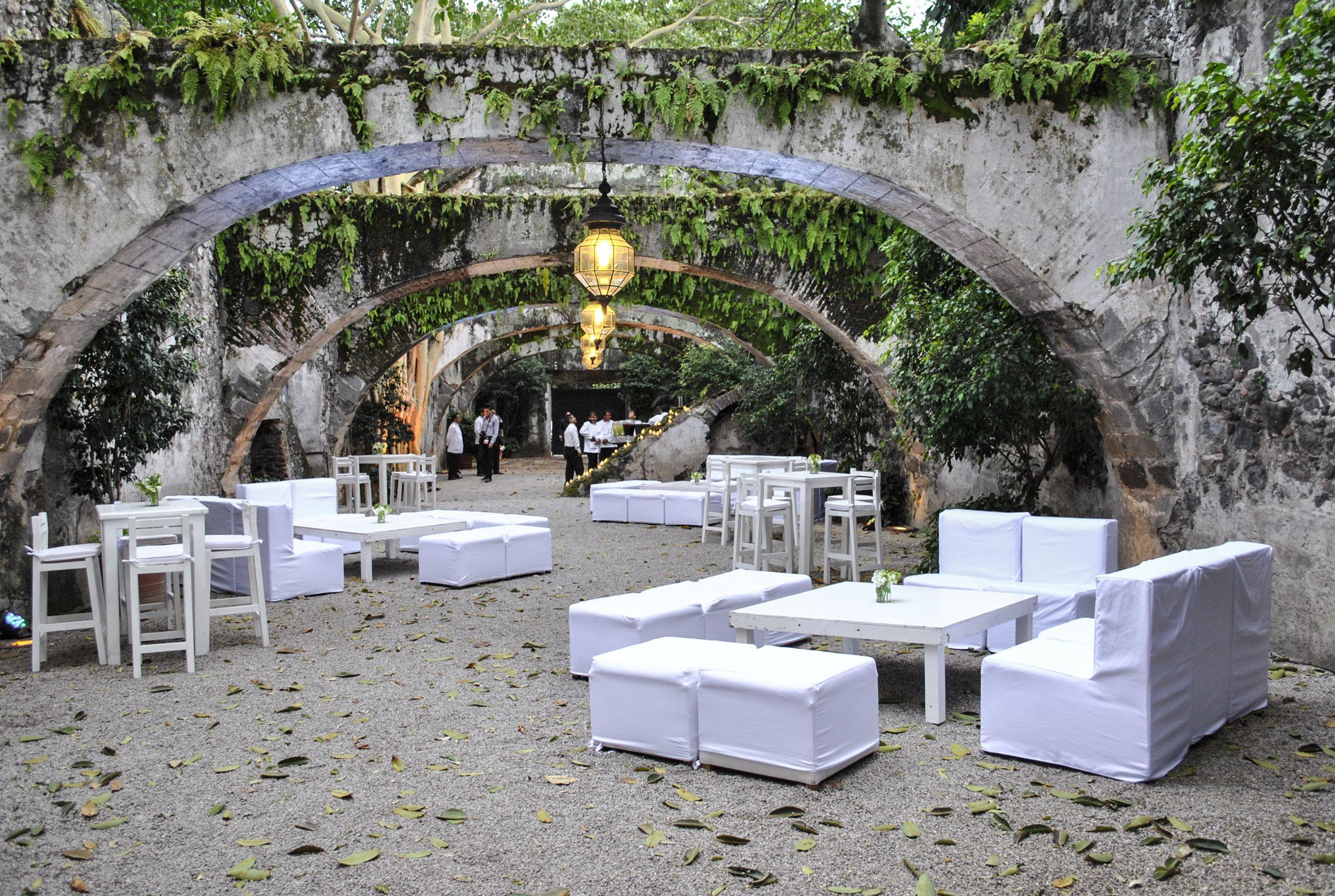 Estilo Lounge Bar Area Libre Montaje En Color Blanco Las  # Muebles Cuernavaca