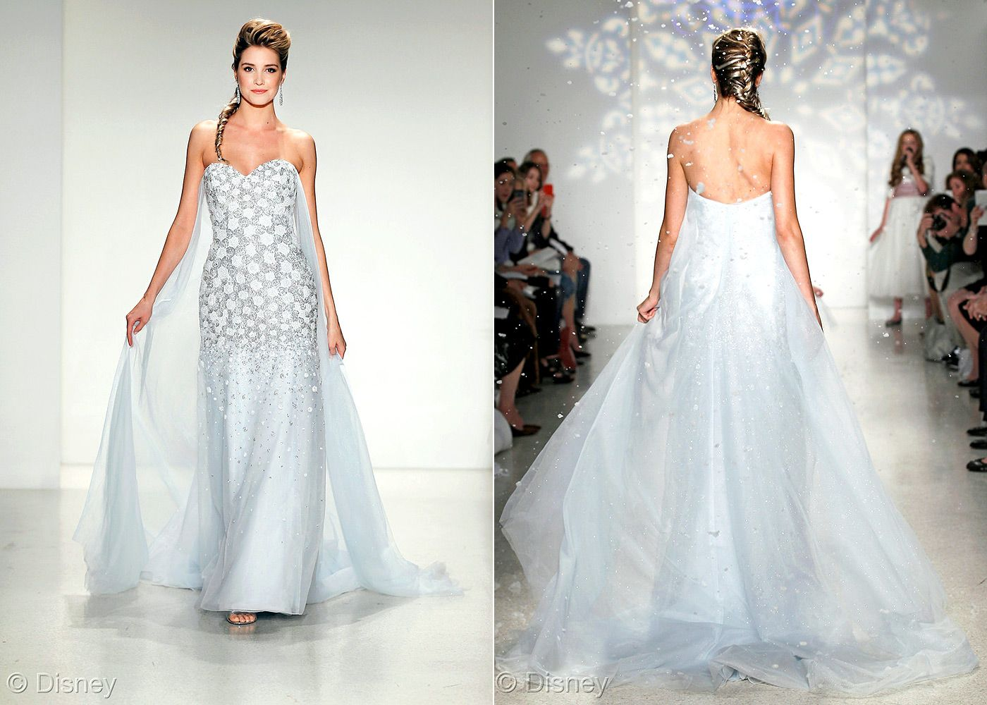 The dress from frozen - First Pictures Of The Frozen Wedding Dress From Disney
