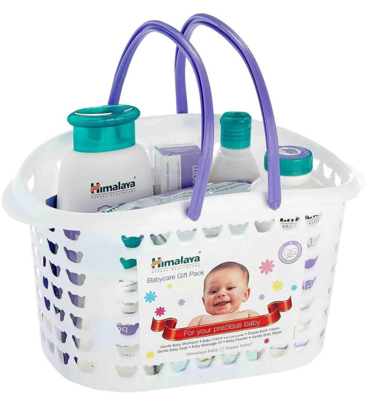 Himalayas Babycare Gift Basket Contents Baby Cream 50 Ml Sebamed Diaper Rash 100ml Massage Oil 100