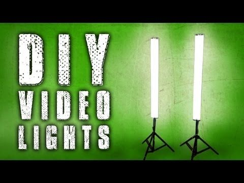 How To: DIY Fluorescent Video Lights (Poor Man Kino Flo) - YouTube