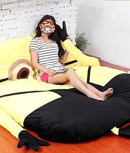 Funny Deable Me Minions Sleeping Bag Sofa Bed Twin Double Mattress For Kids Ship By Express Shippment Dhl Home Kitchen