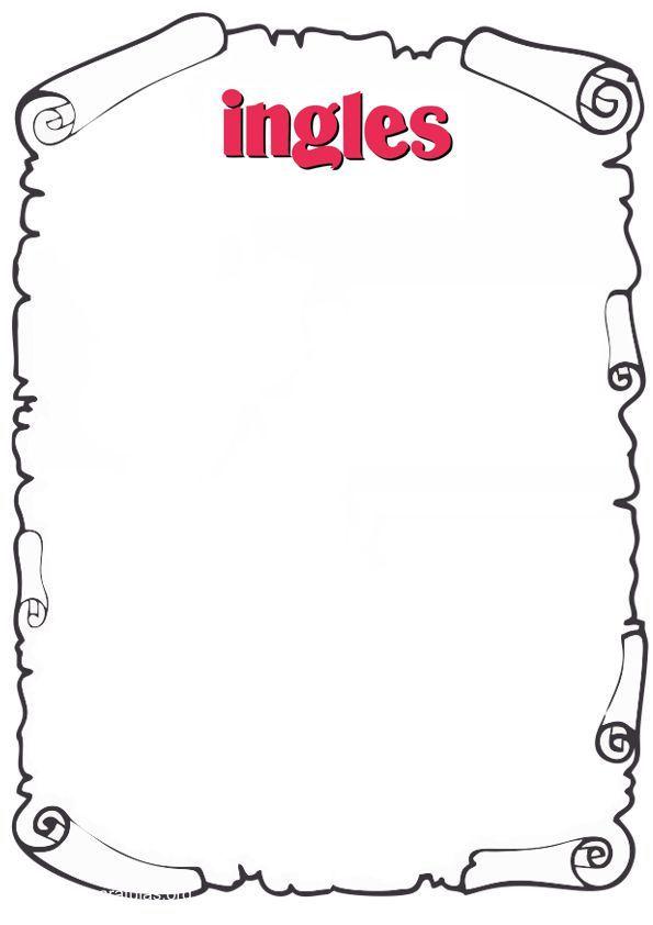 caratula de ingles para pintar   Dibujos para caratulas ...