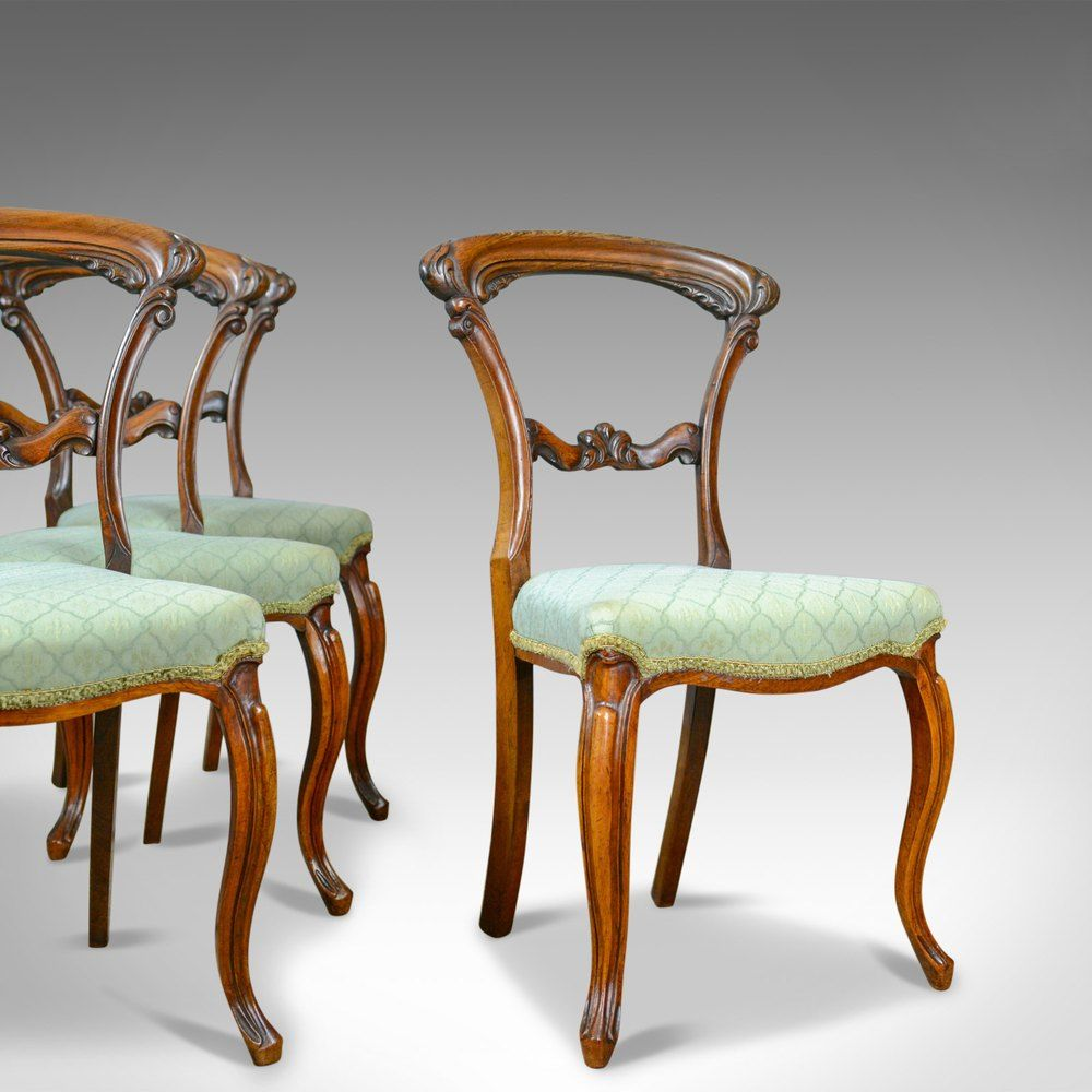 Antique Set Of Four Dining Chairs English C 1835 In 2020 Dining Chairs Chair Antique Dining Chairs