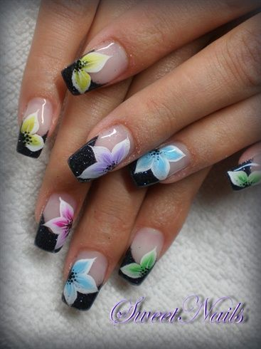 Colored flowers by sweetnails24 nail art gallery nailartgallery colored flowers by sweetnails24 nail art gallery nailartgalleryilsmag by nails magazine prinsesfo Choice Image