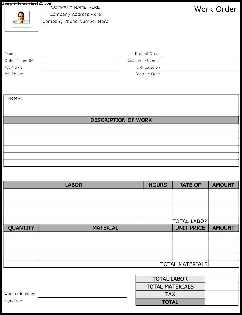 Maintenance Repair Job Card Template - Microsoft Excel Template ...