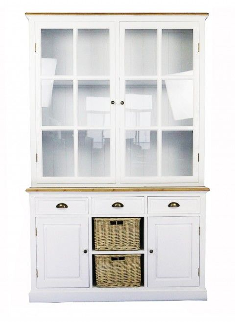 Buffetschrank Weiss Vitrine Landhausstil Living Furniture