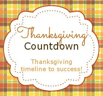 Thanksgiving Timeline Tips For An Organized Holiday Thanksgiving Countdown Holiday