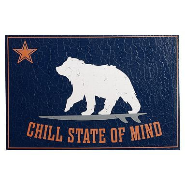 Chill State Of Mind Canvas Art, Navy