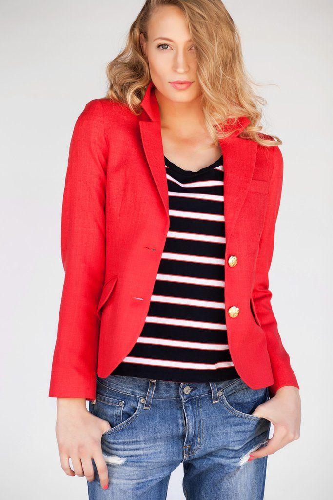 Cambridge Blazer in Red