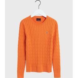 Photo of Gant Cable Knit Pullover mit Rundhalsausschnitt (orange) Gant