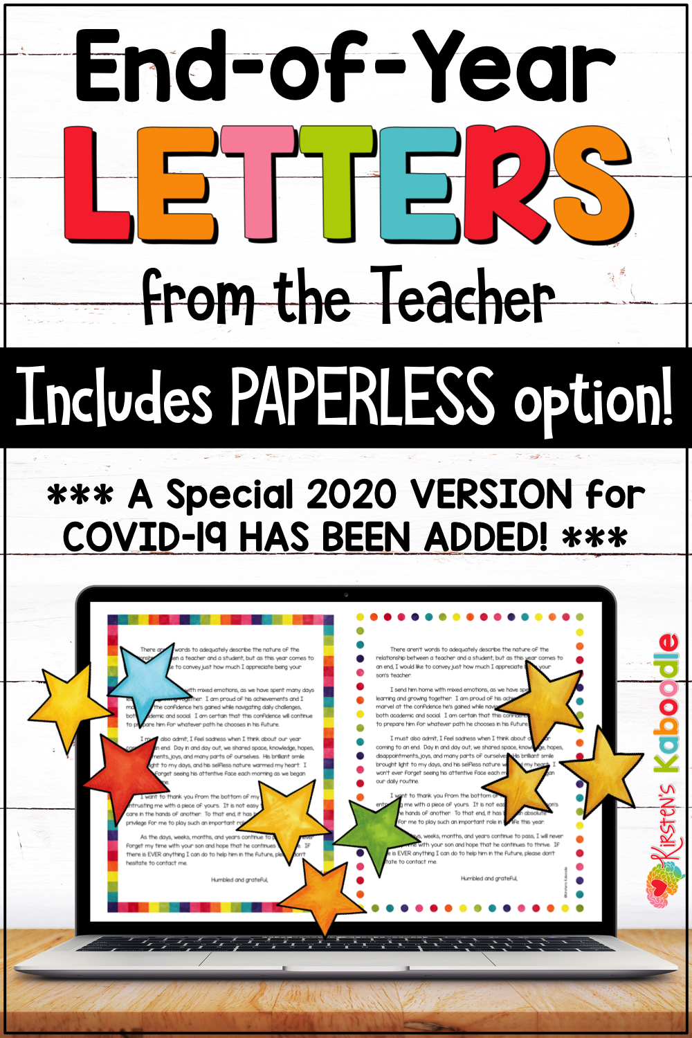 End Of Year Letter To Students Distance Learning Special 2020 Version Included In 2020 Letter To Students Parent Letters From Teachers Letter To Teacher