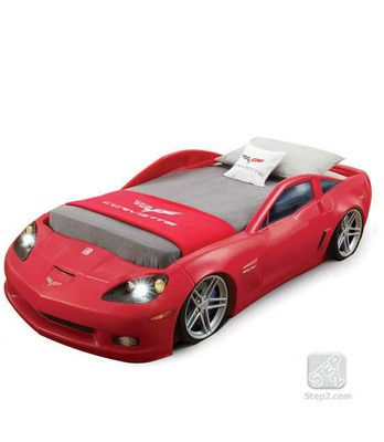 Step2 Corvette Race Car Bed W Lights Red Toddler Or Twin Sports